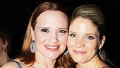 Nice Work ladies Jennifer Laura Thompson and Kelli O'Hara are onstage rivals, but they couldn't be closer at the after party.