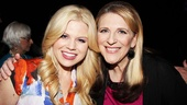 Smash's Megan Hilty smiles alongside fellow judge and future Broadway star Lisa Lampanelli.