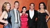 Patricia Kalember, Ben Daniels, Spencer Kayden, Adam James and Jennifer Tilly are dressed for success on opening night.