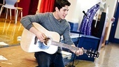 The pop star performs &quot;Introducing Me&quot; from his film Camp Rock for the excited group.