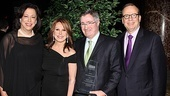 MTC artistic director Lynne Meadow, stage and screen favorite Marlo Thomas and executive producer Barry Grove (right) flank the evening's honoree, Time Warner CEO Glenn A. Britt.