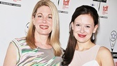 Carrie nominees Marin Mazzie (Outstanding Featured Actress) and Molly Ranson (Outstanding Lead Actress) reunite at the Lortel Awards.