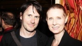 Fellow Hurlyburly alums Josh Hamilton (at the New Group in 2005) and Cynthia Nixon (on Broadway in 1984) relax at Il Punto.