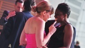 Favorite Actress in a Play nominee Celia Keenan-Bolger (Peter and the Starcatcher) and Montego Glover (Memphis) share a laugh before the ceremony.
