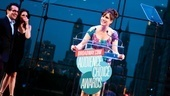 Anything Goes star Stephanie J. Block lost out on the award for Favorite Replacement, so she marches on stage to accept Wickeds award for Favorite Tour. Brian DArcy James and Tammy Blanchard look on, laughing.