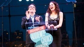 Brian DArcy James and Tammy Blanchard have a blast as Broadway.com Audience Choice Awards presenters.