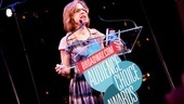 "Jackie Hoffman sings a hilarious version of ""Buenos Aires"" while accepting Patti LuPone's award for Favorite Diva Performance in An Evening With Patti LuPone & Mandy Patinkin."