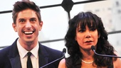 Presenter Daphne Rubin-Vega thinks she's speaking at a gay rights event, but Nick Adams is quick to set her straight!
