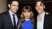 Peter and the Starcatcher's Adam Chanler-Berat supports his castmates, Distinguished Performance Nominees Celia Keenan-Bolger and Christian Borle, at the gala.