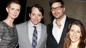 Drama League Distinguished Performance nominees Cynthia Nixon (Wit), Matthew Broderick (Nice Work If You Can Get It), Ricky Martin (Evita) and Elena Roger (Evita) are all smiles at the ceremony.