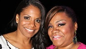 Ghost star DaVine Joy Randolph (right) is thrilled to meet her idol, Audra McDonald (Porgy and Bess)! 