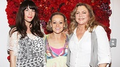 Liv Tyler, Tracie Bennett and Kathleen Turner look radiant with their summer tans and fashions backstage at End of the Rainbow.