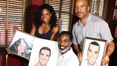 Why, it's David Alan Grier, of course! The trio of 2012 Tony nominees show off their coveted caricatures.