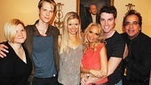 Kristin Chenoweth is flanked by musical director Mary Mitchell Campbell, backup performers Will Taylor, Chelsea Packard and Tyler Hanes (who also choreographed the show) and director Richard Jay-Alexander.