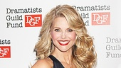 Christie Brinkley, one of the many lovely ladies who've played Roxie Hart in Chicago, is delighted to honor composer John Kander.