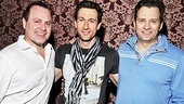 "The ""three dads"" of Mamma Mia!, Daniel Cooney, Aaron Lazar and Graham Rowat, hang out after the show."