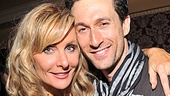 Judy McLane leans in for a photo with her new onstage beau, Aaron Lazar.