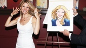O'Hara strikes a hair-raising pose with her new Sardi's portrait. Congratulations, Kelli!