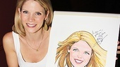 "The leading lady's note reads: ""This gives me great joy! Many thanks, Kelli O'Hara."""