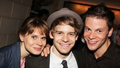 Peter leading lady Celia Keenan-Bolger enjoys the party with her brother, Newsies star Andrew Keenan-Bolger, and his actor boyfriend Brian Letendre.