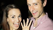 Speaking of Newsies, Kara Lindsay shows off her brand new engagement ring from Memphis cast member Kevin Massey. Congrats!