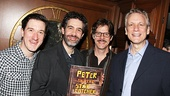 They already know the dialogue! Peter castmates Carson Elrod, Kevin Del Aguila and Rick Holmes congratulate their show's Tony-nominated author, Rick Elice.