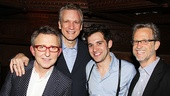 Celebrating the release of Peter and the Starcatcher's annotated script are Disney Theatrical Productions head Thomas Schumacher, playwright Rick Elice, title star Adam Chanler-Berat and novel co-author Ridley Pearson.