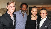 Norm Lewis and Adam Pascal are flanked by their hosts, Thomas Schumacher (r.) and his partner, interior designer Matthew White (l.).