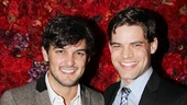 Wesley Taylor presents to another Rock of Ages alum, Jeremy Jordan.