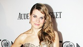 Peter and the Starcatcher star Celia Keenan-Bolger strikes gold with a embellished Monique Lhuillier dress, Verdura jewels, Patina clutch and Christian Louboutin shoes.