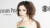Green is a tricky color to pull off, but Once star Cristin Milioti is picture perfect in Jason Wus strapless dress and Irene Neuwirth jewelry.
