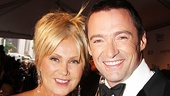 The luckiest woman alive, Hugh Jackman's wife Deborra-Lee Furness, is by her husband's side as he accepts a special award for his lifetime contribution to Broadway.