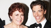 Two actors who are no stranger to stealing scenes and getting laughs, Judy Kaye and Christian Borle, show off their awards.