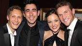 It's a Grease reunion for Max Crumm and Tony nominee Laura Osnes, flanked by Osnes' husband, Nathan Johnson and her Bonnie & Clyde co-star Claybourne Elder.