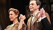 Jessica Hecht and Jim Parsons bask in the opening night applause.