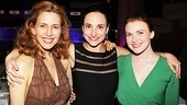 Jessica Hecht strikes a pose with her onstage daughter Tracee Chimo and Holley Fain.
