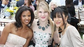 Check out this summery threesome: As You Like It castmates Renee Elise Goldsberry and Lily Rabe and Rabes former Broadway co-star Hettienne Park. 