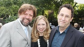 Public Theater artistic director Oskar Eustis welcomes First Daughter (and NBC correspondent) Chelsea Clinton and playwright Tony Kushner to the gala.