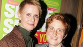 Newlyweds Cynthia Nixon and Christine Marinoni enjoy a night out.