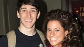 Newsies star Ben Fankhauser pals around with Marissa Jaret Winokur after the show.