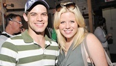 Jeremy Jordan flashes his signature smile with his new Smash co-star Megan Hilty. 