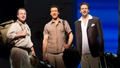 Daniel Cooney as Bill Austin, Aaron Lazar as Sam Carmichael and Graham Rowat as Harry Bright in Mamma Mia.