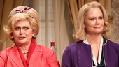 Elizabeth Ashley as Mrs. Sue-Ellen Gamadge and Cybill Shepherd as Alice Russell in The Best Man.