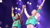 Game on! Bring It On stars Taylor Louderman and Adrienne Warren stand united as they take their opening night bows.