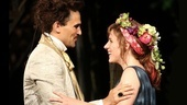 Ivan Hernandez as Cinderella's Prince and Jessie Mueller as Cinderella in Into the Woods.
