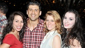 Chicago castmates Donna Marie Asbury, Tony Yazbeck, Dylis Croman and Melissa Rae Mahon are delighted to share a post-show party with Bianca Marroquin.