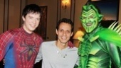 It's a battle between good and evil as Spider-Man stars Matthew James Thomas and Robert Cuccioli flank Marc Anthony!