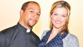 Jerold Solomon and Missi Pyle take on the adult roles of Father Mike and Sister Joan in Bare.