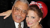 James Earl Jones (Ex-President Arthur Hockstader) gives his co-star Kristin Davis a squeeze.