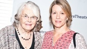 Heartless star Lois Smith stops by the Linney Theatre to say hello to Death of a Salesman alum Linda Emond.